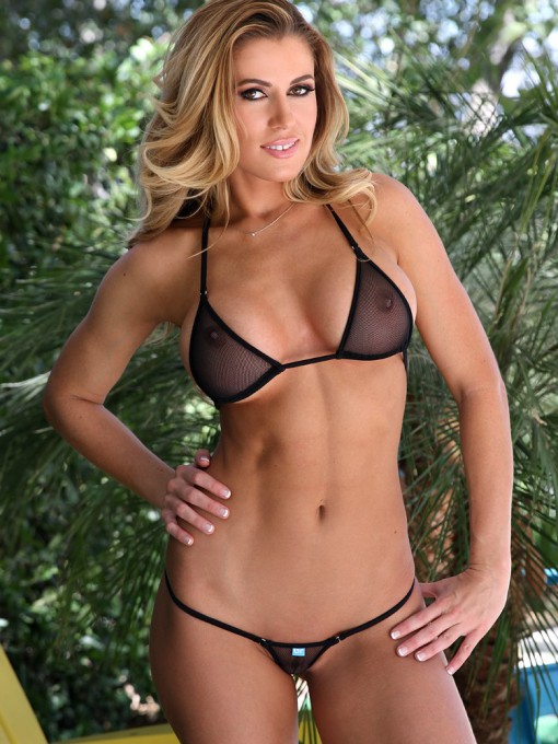 Mini Micro Black Fishnet Bikini