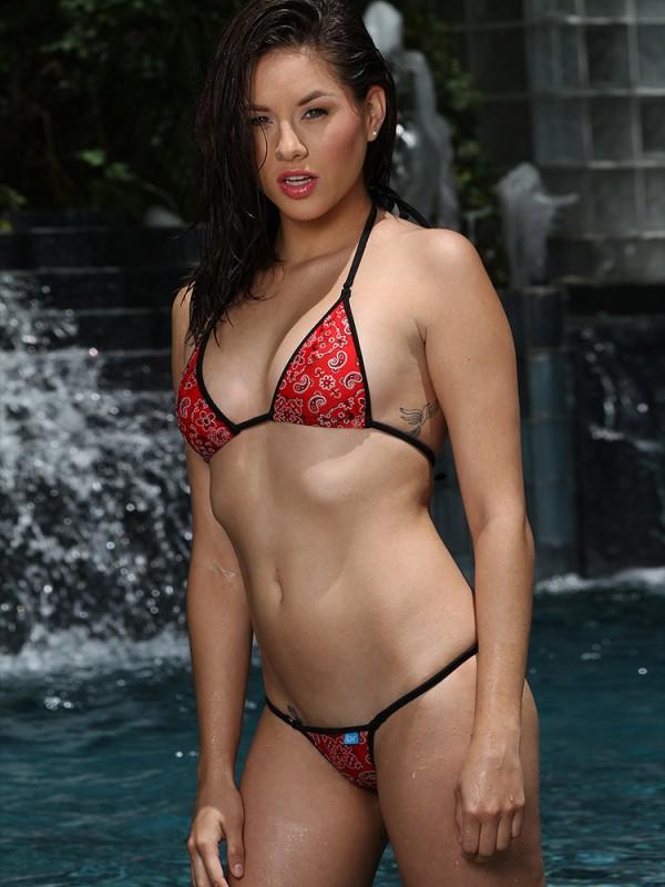Red Bandana Print Micro Bikini
