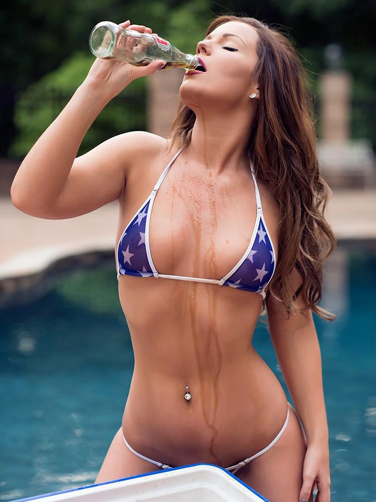 Brazilian Bikini With Flag