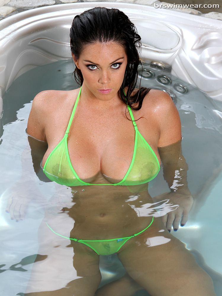 Green Sheer Micro Bikini