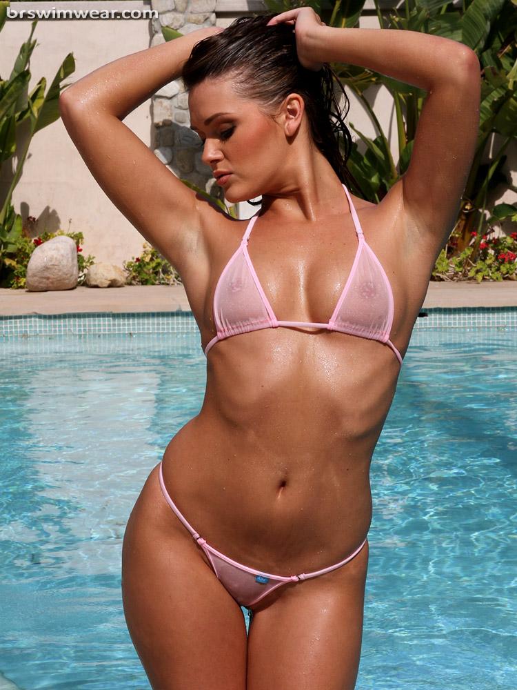Baby Pink Sheer Micro Bikini