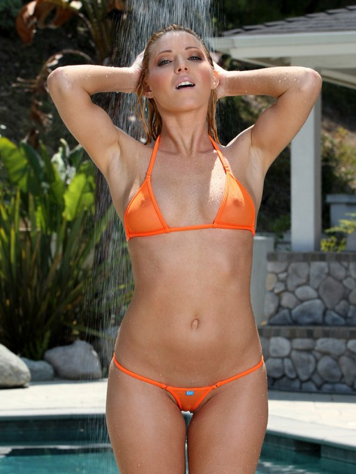Mini Micro Orange Sheer Bikini