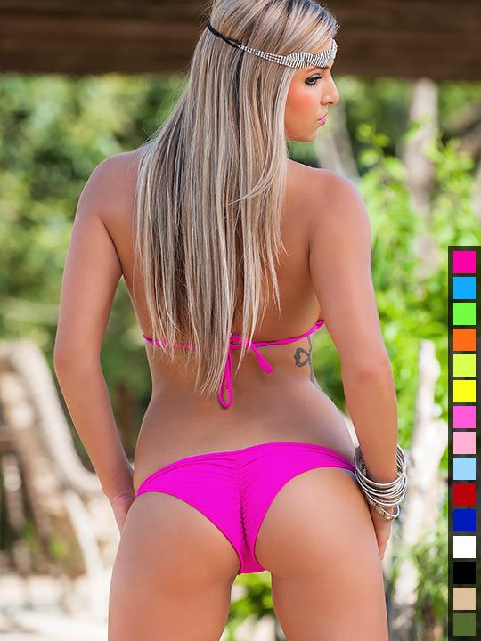 Full Scrunch Butt Bikini Matte Lycra