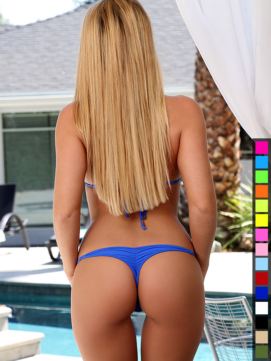 Whaletail Thong Micro Bikini Matte Lycra