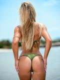 Cheeky Bottom Micro Bikini Matte Lycra