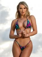 Tropical Tie Dye Micro Bikini