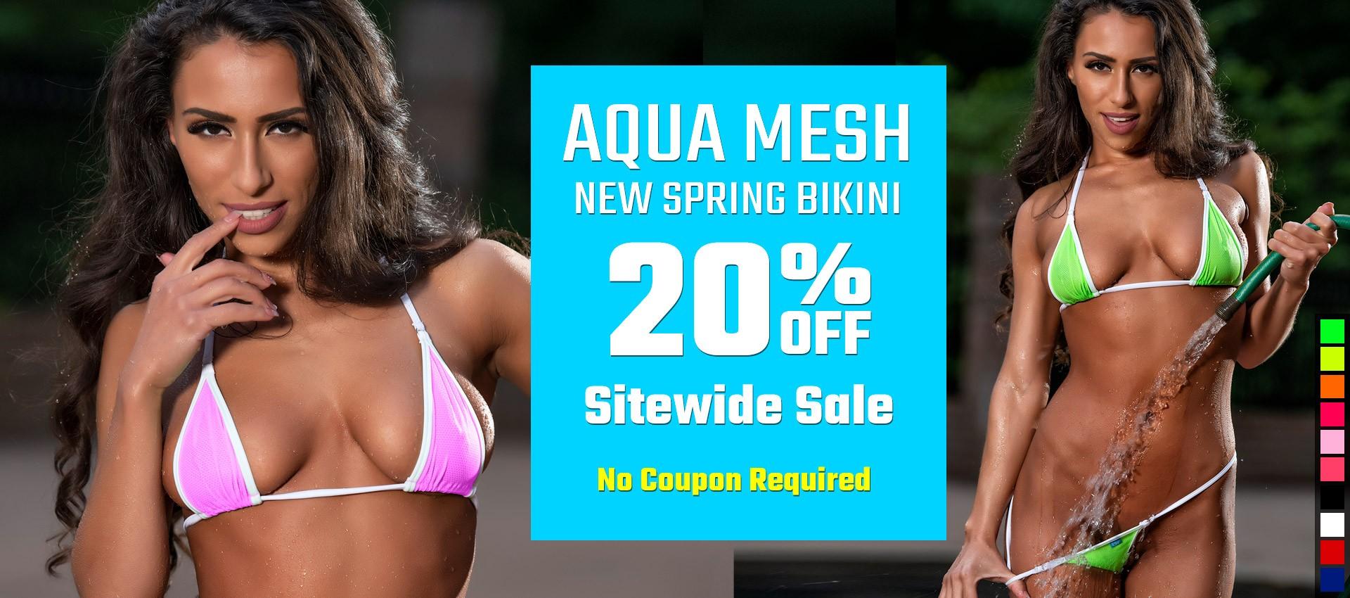 Spring 20% Sitewide Sale and NEW Aqua Mesh Bikini