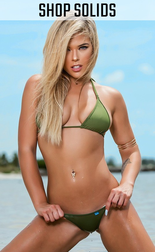 Shop all our Solid Fabric Tiny Micro Bikinis!