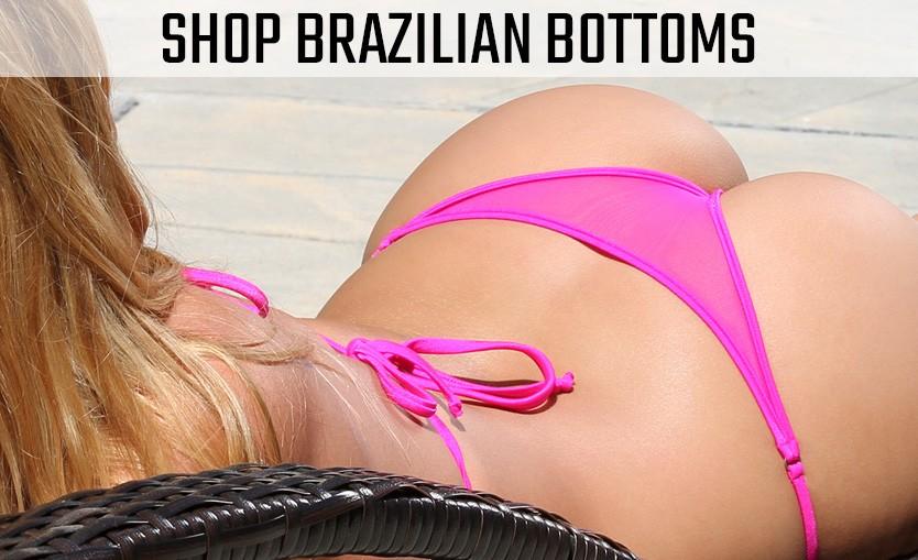 Brazilian, Cheeky, Scrunch Butt and Whaletail Micro Bikini Bottoms